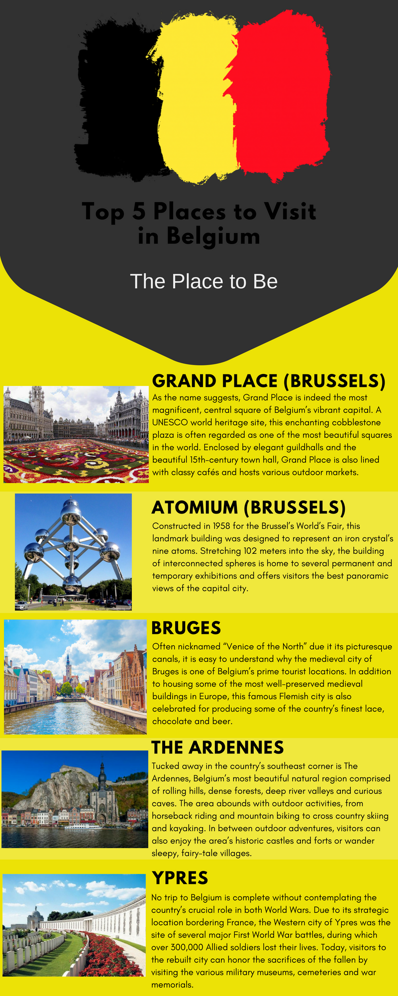 Top 5 Places to Visit in Belgium