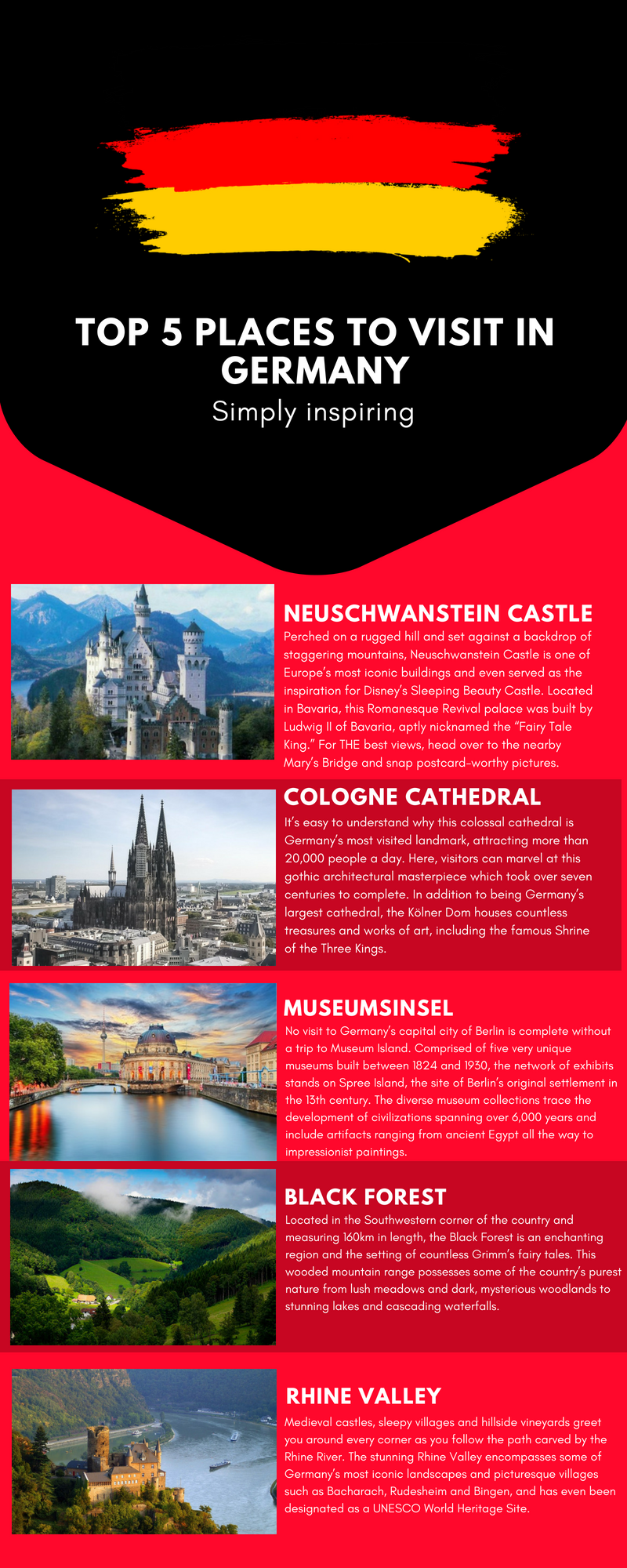 top five places to visit in germany