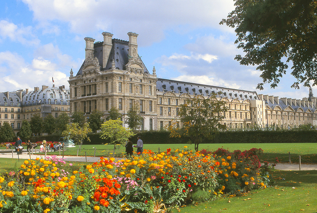 Tuileries Gardens and the Louvre, Paris